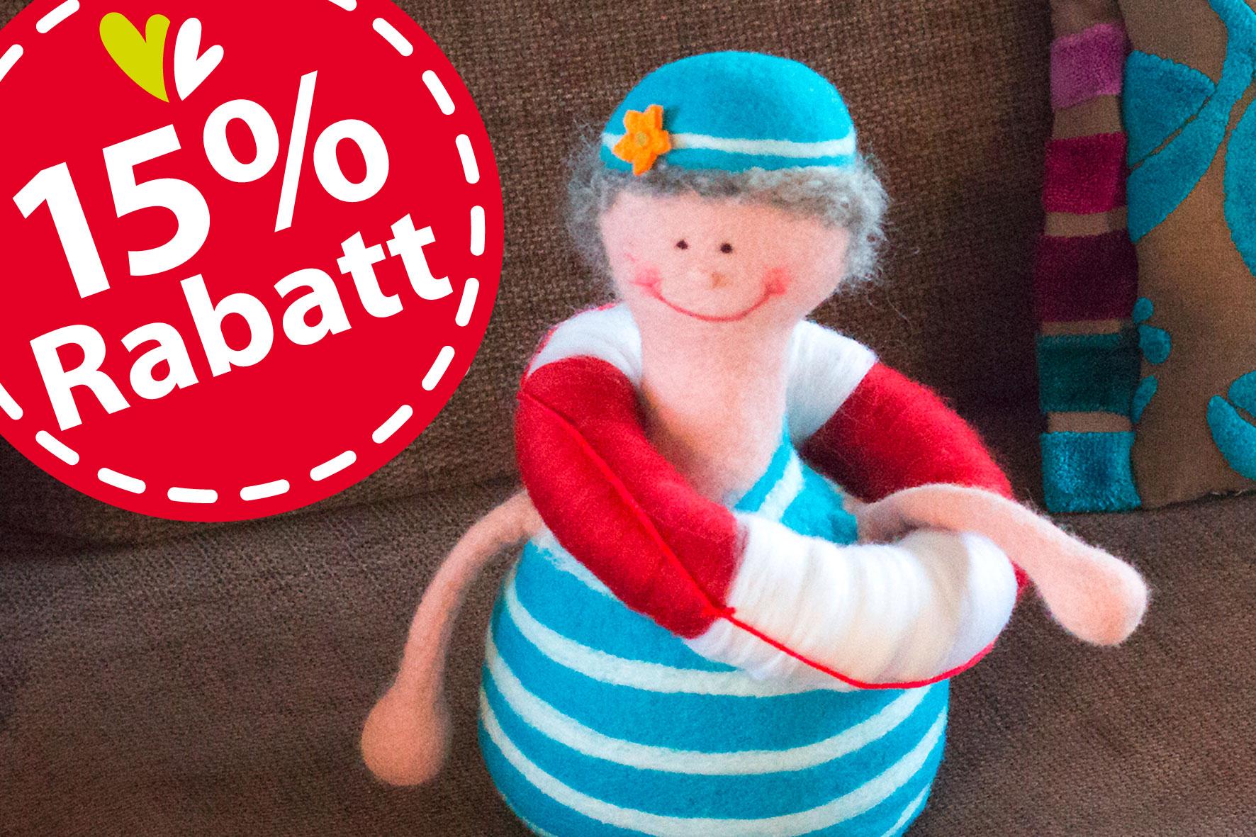 15% Sommer-Ferien-Aktion: Frische Brise – filzen im maritimen Look … ausgebucht!